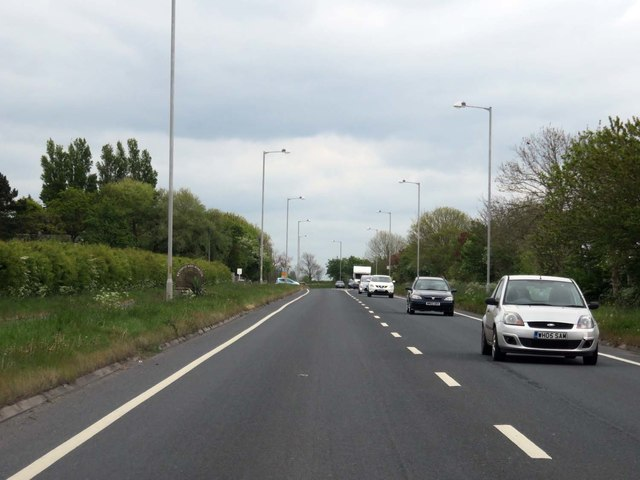 Lytham Road heading to Warton