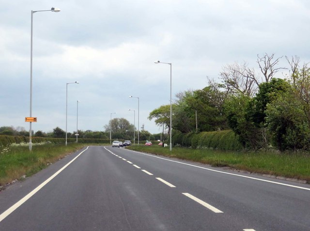 Lytham Road heading to Warton