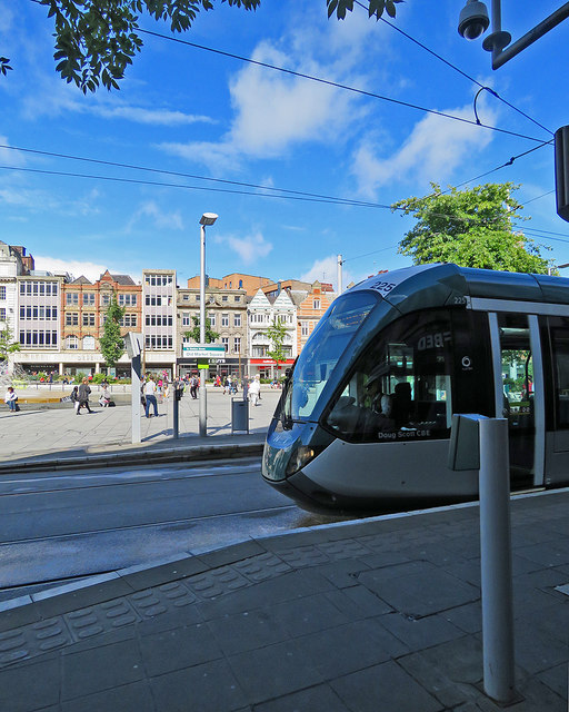 At Old Market Square tram stop