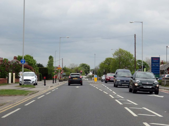 Lytham Road in Warton