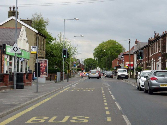 Lytham Road in Freckleton