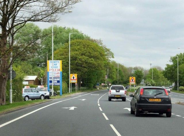 Preston New Road in Freckleton