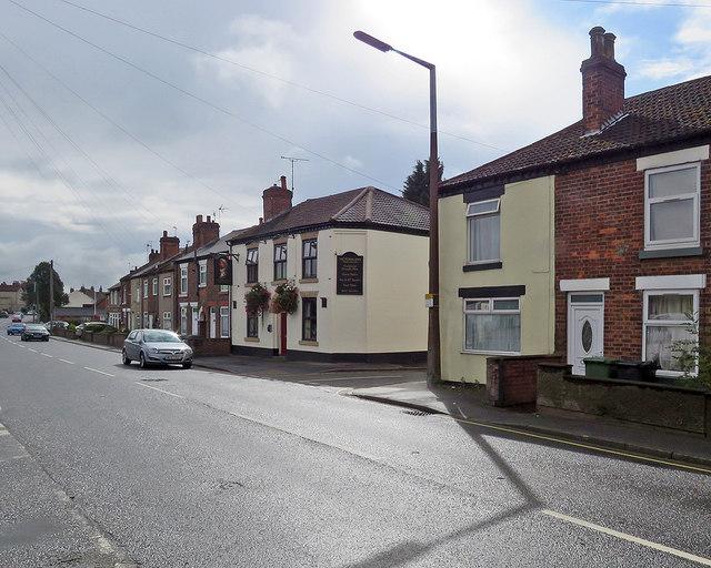 Alfreton: Nottingham Road and The Victoria Inn