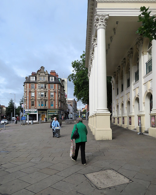 Outside the Theatre Royal