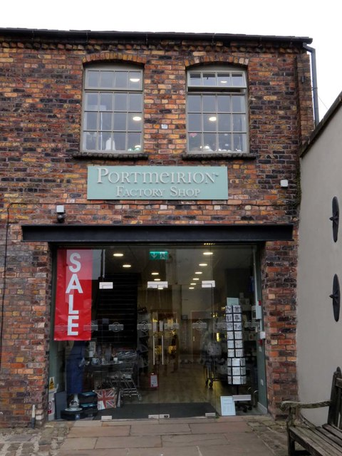 Portmeirion Factory Shop in the Phoenix Works