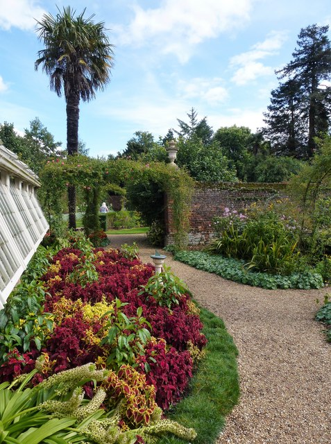 Garden near the greenhouses at Peckover House, Wisbech