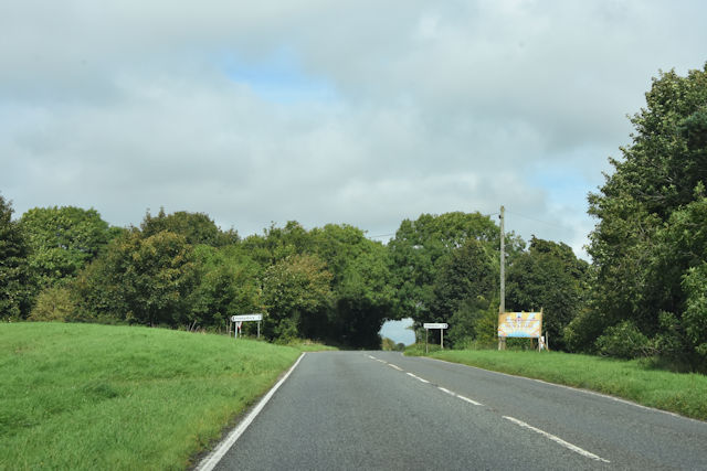 A46 approaching crossroads at Starveall