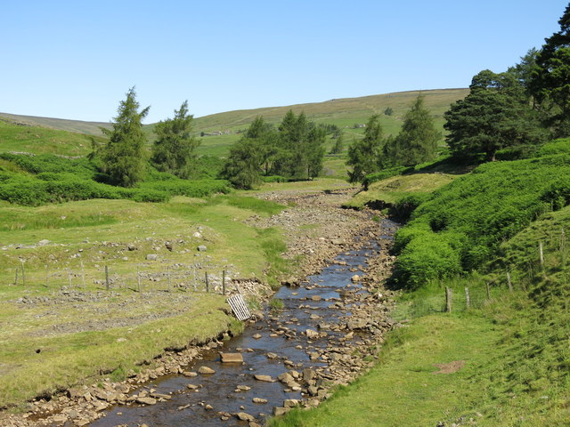 The valley of Hudeshope Beck north of the Skears Hushes (2)