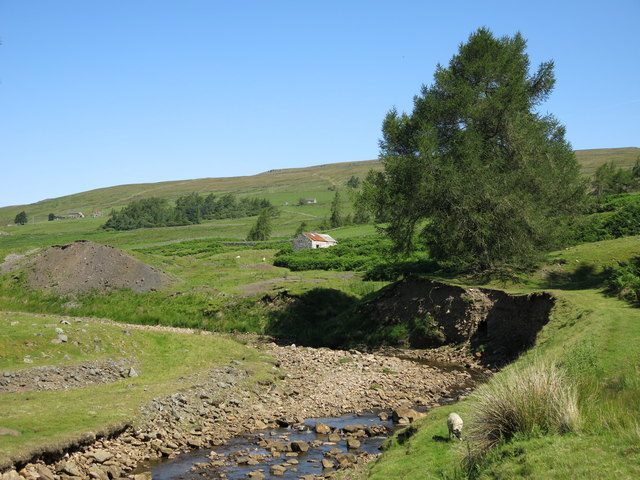 The valley of Hudeshope Beck south of Marlbeck Mine