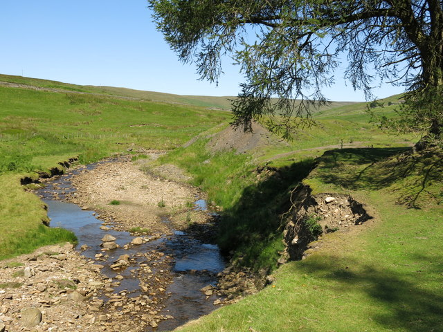 Bank erosion on Hudeshope Beck