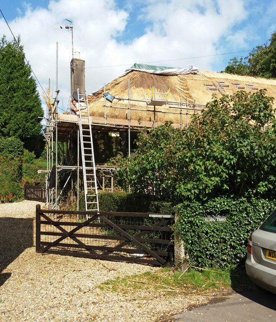 Thatching at Easton, near Chagford