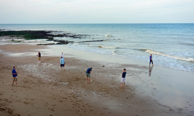 Beach Cricket at Low Tide