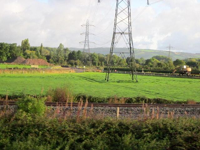 Norton Fitzwarren Junction Under the Pylons