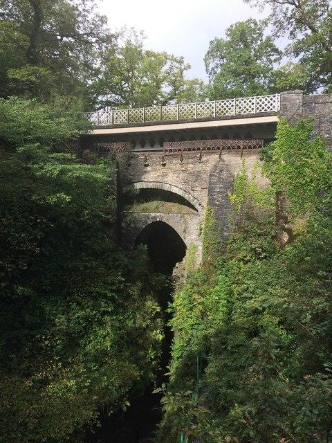 The three bridges at Devil's Bridge