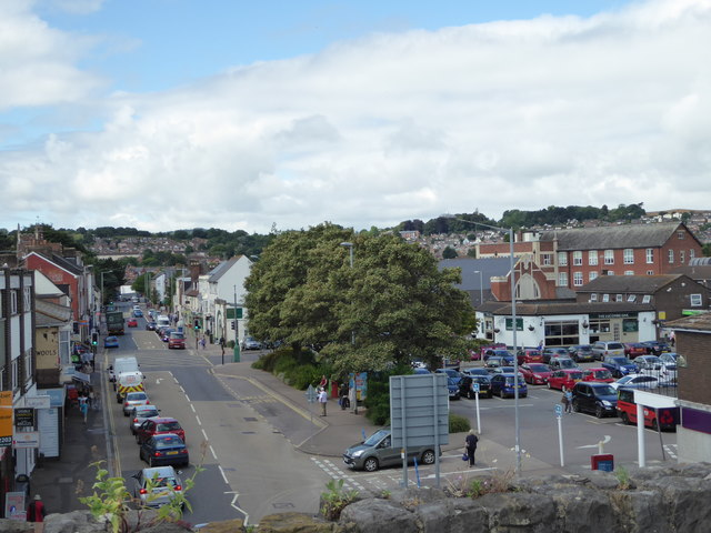 Cowick Street from St Thomas Station, Exeter