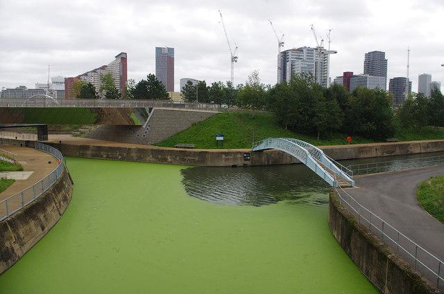 River Lea junction, Queen Elizabeth Olympic Park
