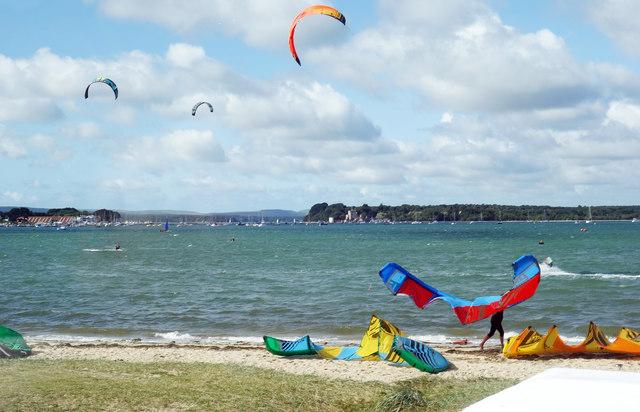 Kite Surfers, Poole Harbour