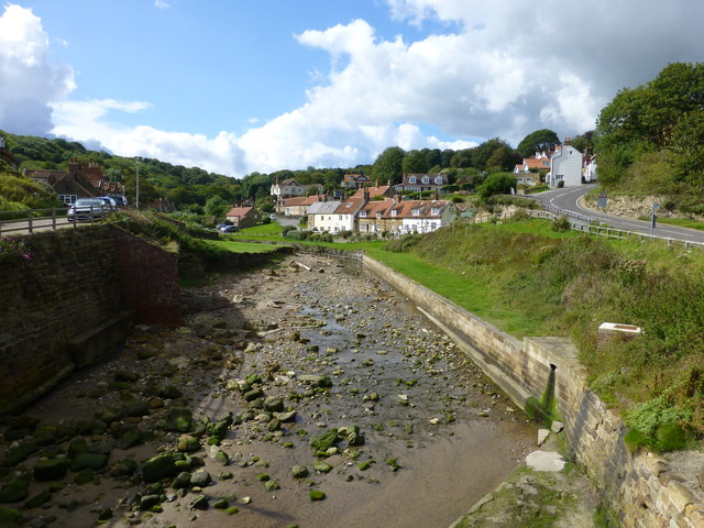 Sandsend Beck from the road bridge