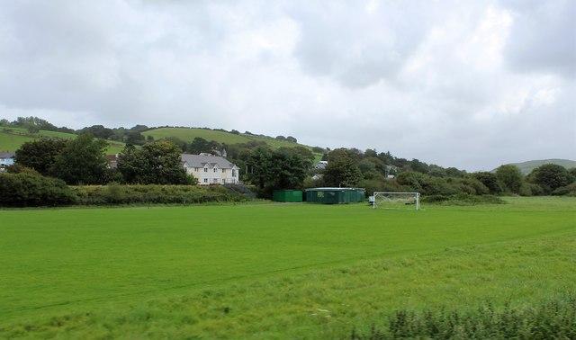 Sports field at Llanbadarn Fawr