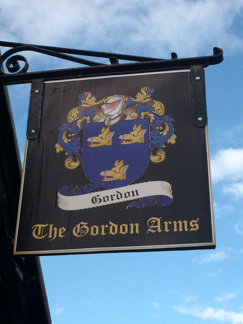 Sign for the Gordon Arms Hotel
