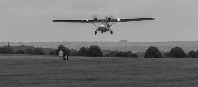 Catalina Flying Boat at Scampton Air Show