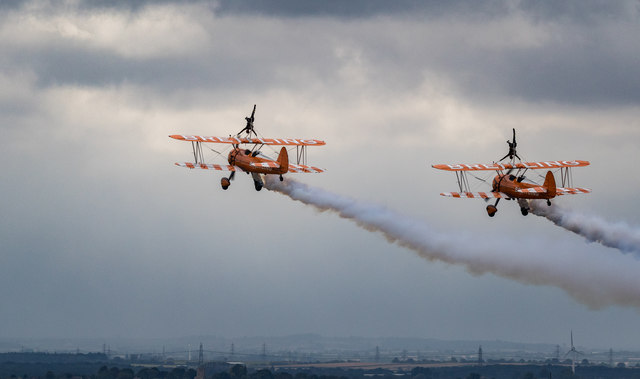 Breitling Wing Walkers at Scampton Air Show