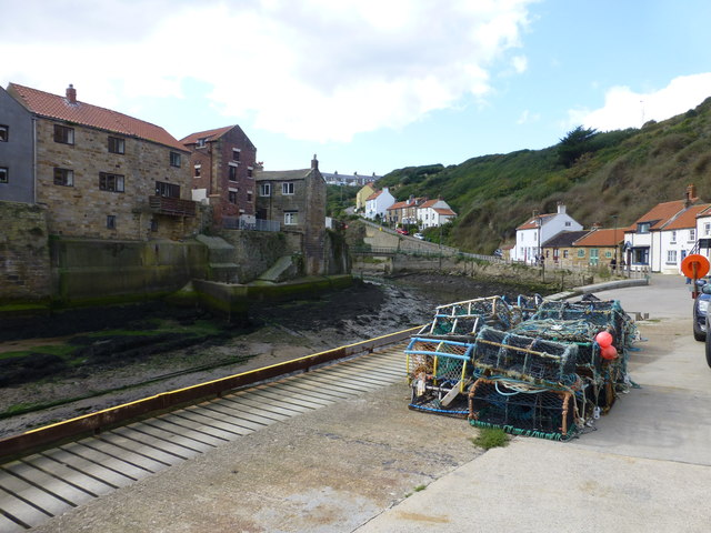 Lobster Pots on Staithes quayside