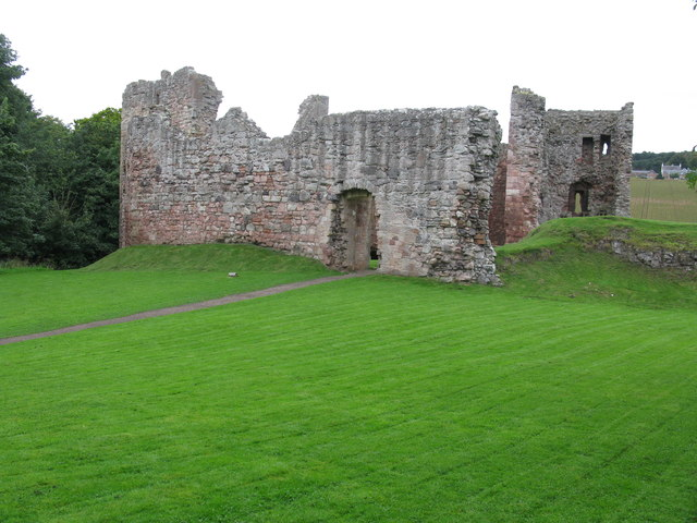 Hailes Castle, south-west of East Linton