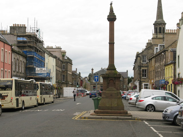 High Street (A6093) and Market Cross, Haddington