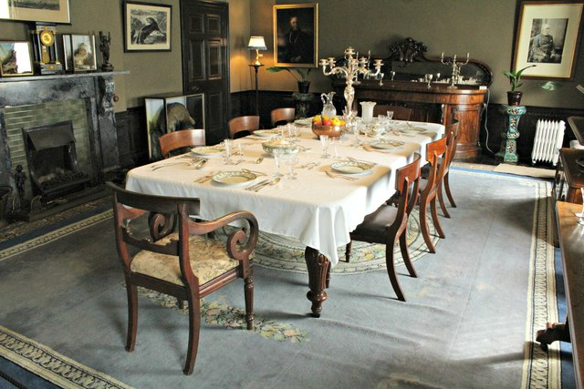 The dining room at Llanerchaeron