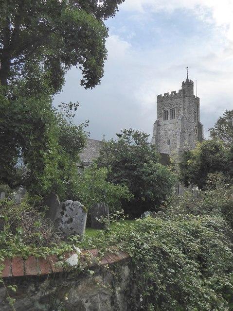 Wittersham church after rain