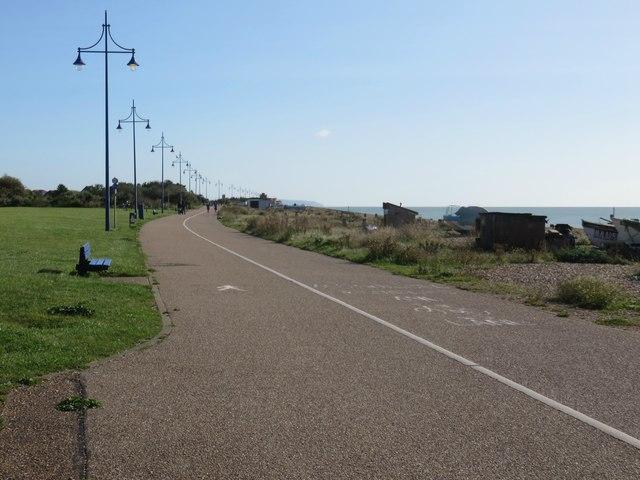 Path alongside Sovereign Beach, Eastbourne