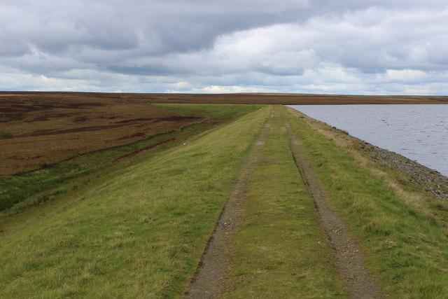 On the Embankment Dam of Warley Moor Reservoir
