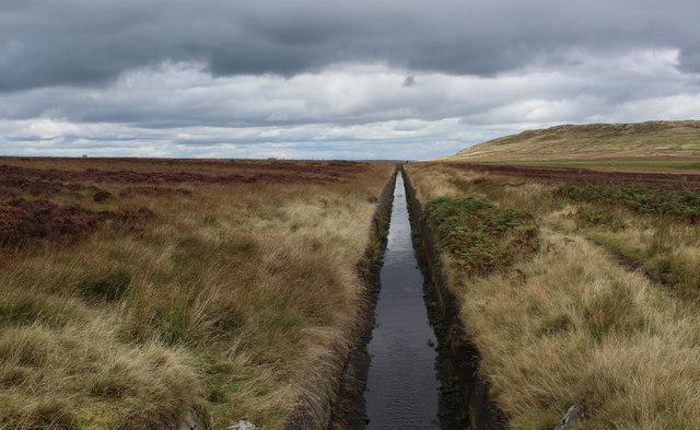 Catchwater Drain on Midgley Moor