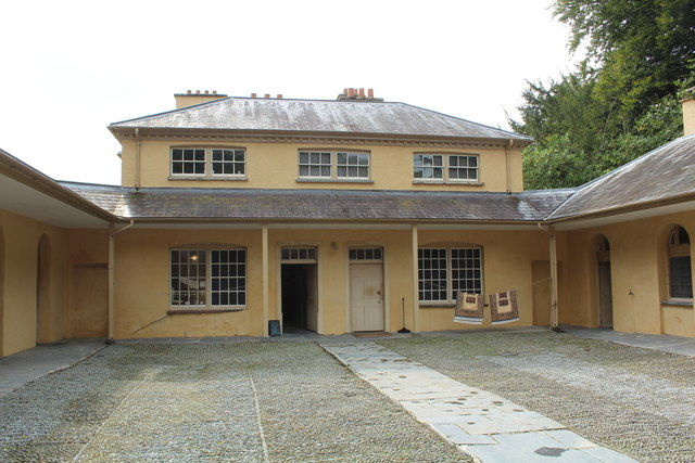 Service Courtyard at Llanerchaeron