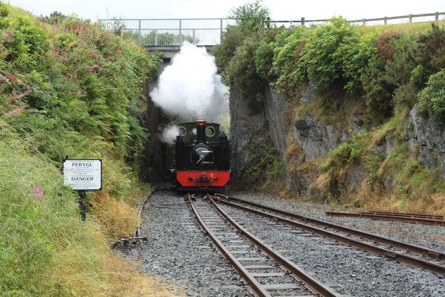 Number 8, Llewelyn, arrives at Devil's Bridge