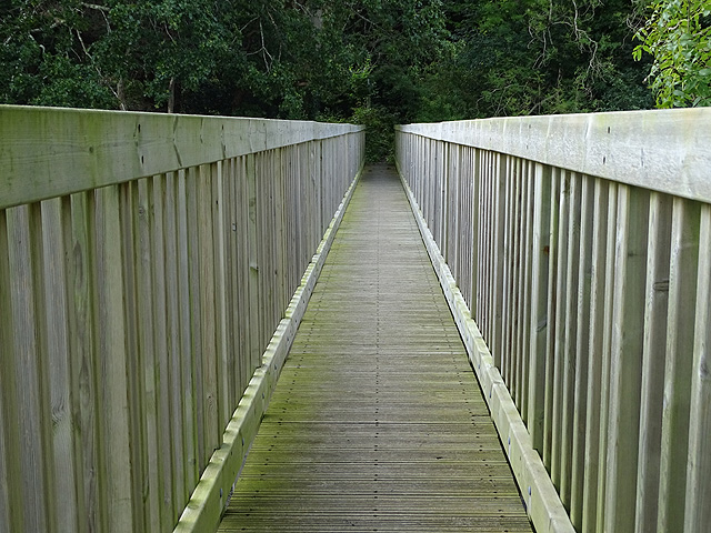 A view across Gamlyn footbridge