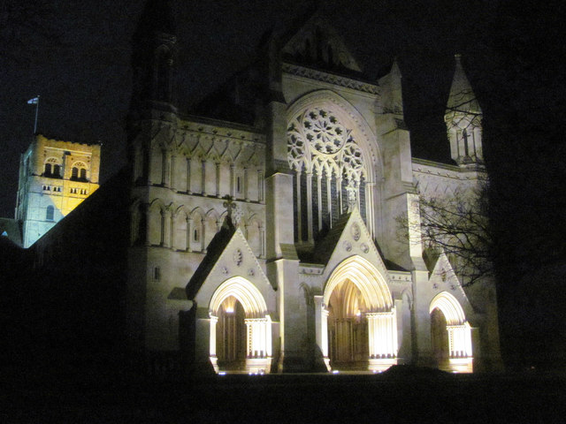 St Albans Abbey at Night