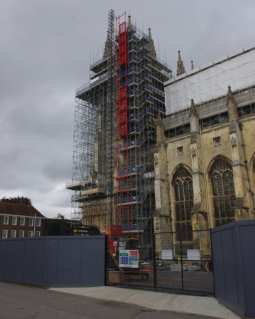 Scaffolding, Canterbury Cathedral