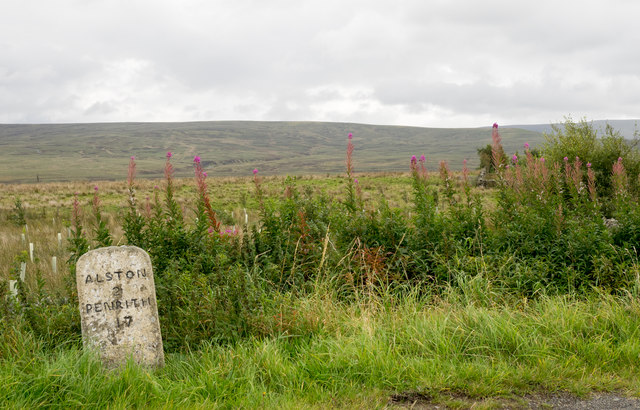 Milestone beside A686