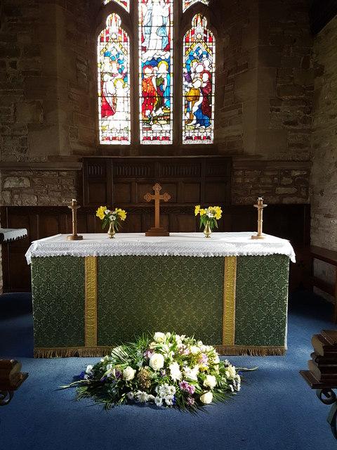 The altar at St Mary's Church