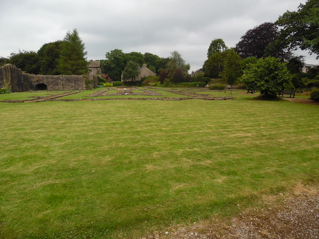 Lawn and Ruins at Whalley Abbey