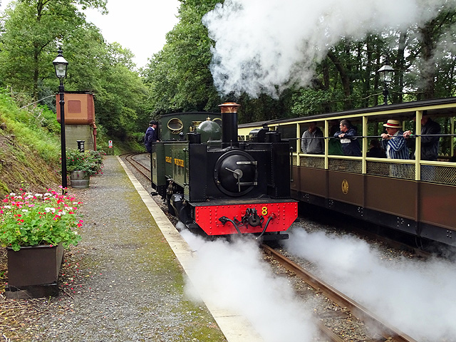 No 8 running round its train at Aberffrwd