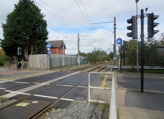 Level Crossing over tram tracks