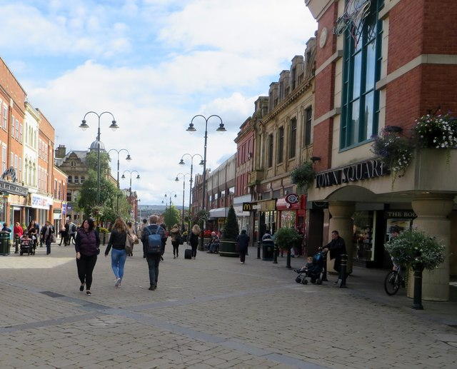 Pedestrianised shopping area