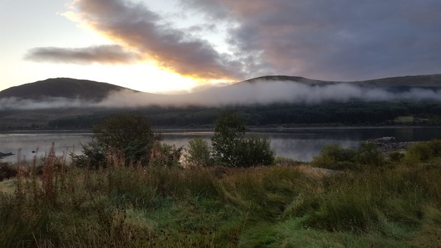 Morning mist over Loch Doon