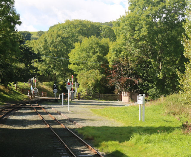 Railway at Castle Caereinion station