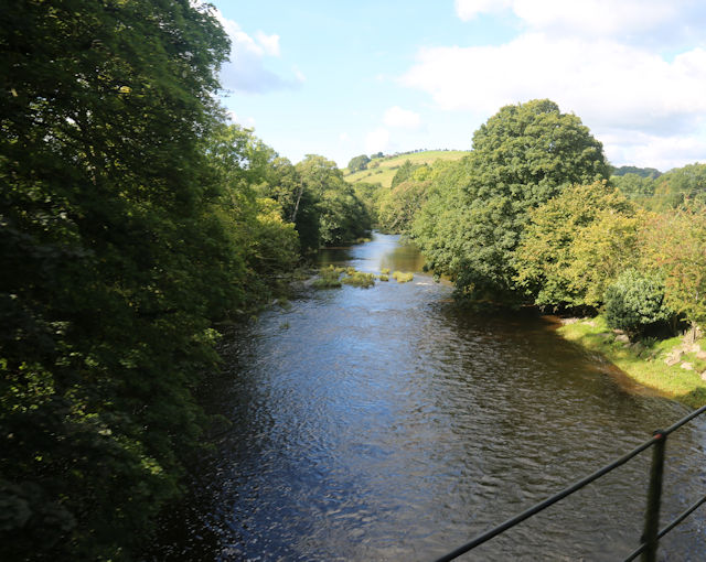 Afon Banwy from railway bridge