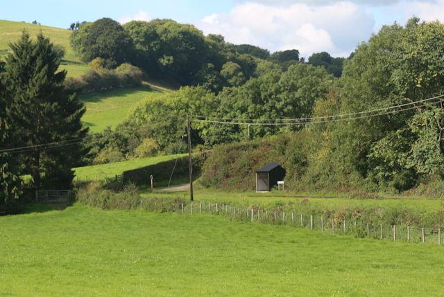 Heniarth Halt from railway bridge