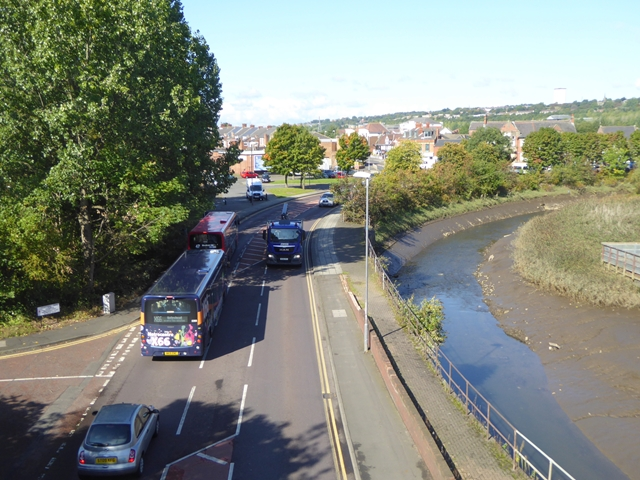 Railway Street (A1114) and the River Team